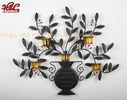 metal vase wall hanging candle holder