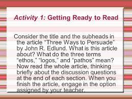 ethos pathos logos essay rhetorical analysis essay ethos examples the rhetoric of the op ed page ethos pathos logos ppt 3 activity