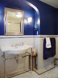 Dark Blue Bathroom Country Blue Bathroom Decor Toilet In Light Brown Tile Wall Floor