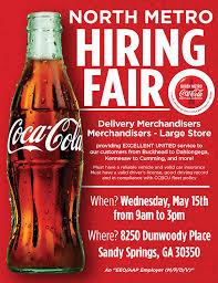 Flyer Jobs Now Hiring Flyer Jobs At North Metro Coca Cola Coca Cola