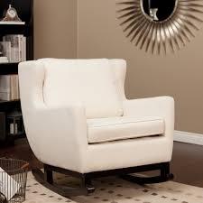 belham living upholstered rocking chair cream indoor rocking chairs at hayneedle