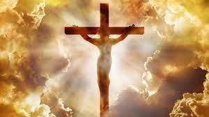 Image Jesus On Cross With Sunbeam And ...