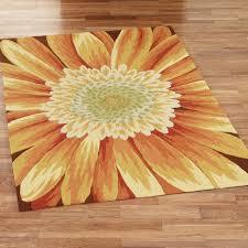 Floor: Beautiful Sunflower Rugs Combine With Astonishing Flooring ...
