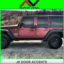image is loading jeep wrangler jk door skins decal matte black