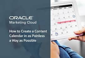 Create A Calendar Template How To Easily Create A Content Calendar Oracle