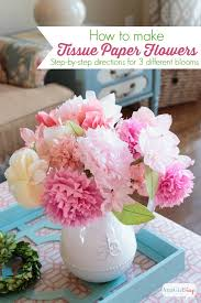 How To Make Flower From Tissue Paper How To Make Tissue Paper Flowers Atta Girl Says