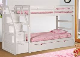 white bunk bed with stairs. Exellent Bed Charming White Bunk Beds With Stairs 17 Best Ideas About Bed  Trundle On Pinterest N
