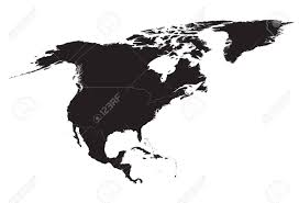 Black And White Map Of North America Royalty Free Cliparts Vectors