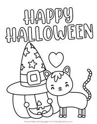 Click here to start coloring. 7 Best Free Printable Non Scary Halloween Coloring Pages This Tiny Blue House