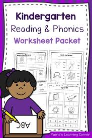 Preschool and kindergarten phonics worksheets for teachers and homeschool parents. Kindergarten Reading And Phonics Worksheet Packet Mamas Learning Corner