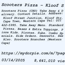 scooters pizza cape town kloof street
