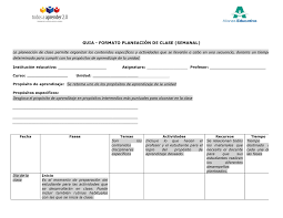 Formato De Planeacion De Clases Magdalene Project Org