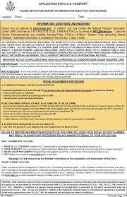 Citizenship Application Form Gorgeous Us Passport Forms For Minors Passport Application Form For Minor