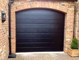 black garage doorSectional Door Photos  JD UK