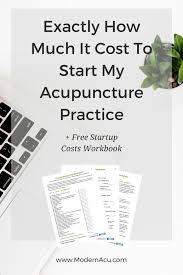startup costs exactly how much it cost to start my acupuncture practice startup