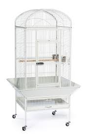 Prevue Hendryx Large Dome Top Bird Cage with Casters Color: Chalk White