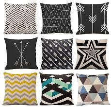 Geometric Pattern Decorative Pillows