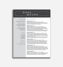 Modern Resume Template Word Format Unique Resume Templates Free Word Sample Pdf Free Modern Resume
