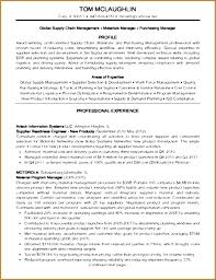Resume Samples For Supply Chain Management Resume Layout Com