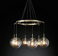 edoc suspended glass globes chandelier