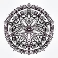Fototapeta Vector Vševidoucí Oko Mandala Symbol Tetování Design Vintage
