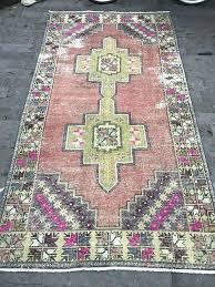 pink turkish rug rug vintage runner rug tribal runner rug mute pink rug aisle rug runner pink turkish rug