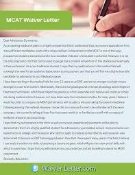 Mcat Registration Fee Waiver Sample | Mcat Request Letter