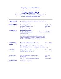 Resume Tips For Highschool Students New Example High School Student ...