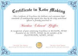 Making A Certificate Certificate In Love Making Certificate Created With Certificatefun Com