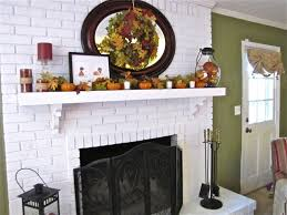 brick fireplace makeover and fall decor