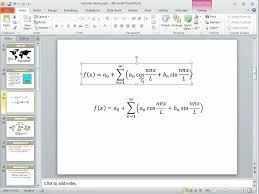 equation editor in powerpoint 2010