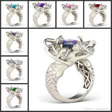 Rainbow <b>Mystic</b> Topaz Wedding Ring Online Shopping | Rainbow ...