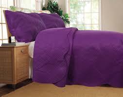 DaDa Bedding Midnight Vineyard Solid Purple Thin & Lightweight ... & BEDSPREAD - DaDa Bedding Midnight Vineyard Solid Purple Thin & Lightweight  Quilted Coverlet Bedspread Set ( Adamdwight.com