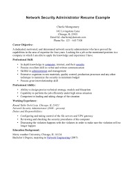 Attractive Network Administrator Resume For Inspire You Vntask Com