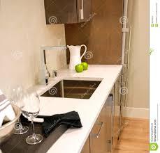 Bar Sink Design Family Room Design With Wet Bar Nook Stock Image Image Of