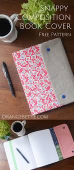 free pattern for making a snappy position book cover