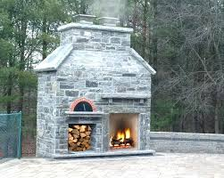 outdoor fireplace and pizza oven with plans diy