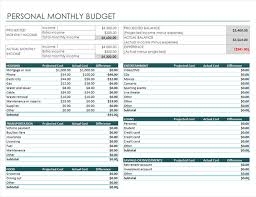 Weekly Monthly Budget Template Personal Monthly Budget