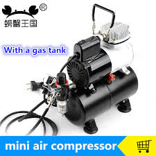mini air compressor 220v model car robot spray painting pump silent compressor