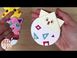 unicorn bookmarks with jenny from origami tree nextup 9 pokemon bookmark corner designs pokemon go diy red ted art s