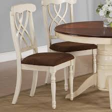 addison buttermilk and dark cherry wood dining chair min qty 2