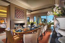 art dining room furniture. Interior: Prestigious Nuance Of Elegant Dining Room Which Is Furnished With Modern Chairs And Art Furniture