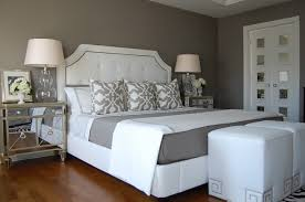 design interior wall painting bedroom grey wall white wood bed white bedroom