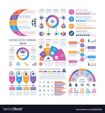 Infographic Template Financial Investment Graphs Vector Image