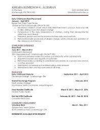 Childcare Resume Prepasaintdenis Com