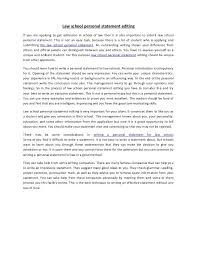 law school personal statement sample