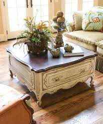 french country coffee table by
