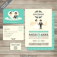 Illustrator Wedding Invitation Template With Collection Of