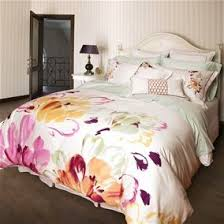 12 best HAND PAINTED PREMIUM QUALITY BED SHEETS images on ... & Carlingdale Bloom Collection: Quilts Etc., beautiful tencel bedding with  huge hand painted flowers Adamdwight.com