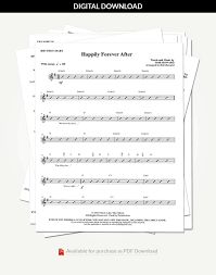 Happily Forever After Rhythm Charts